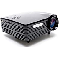 H80 LCD 80 Lumens Home LED Projector 20~120 Inch Display Size Support HDMI/VGA/USB/AV/SD (US Plug)