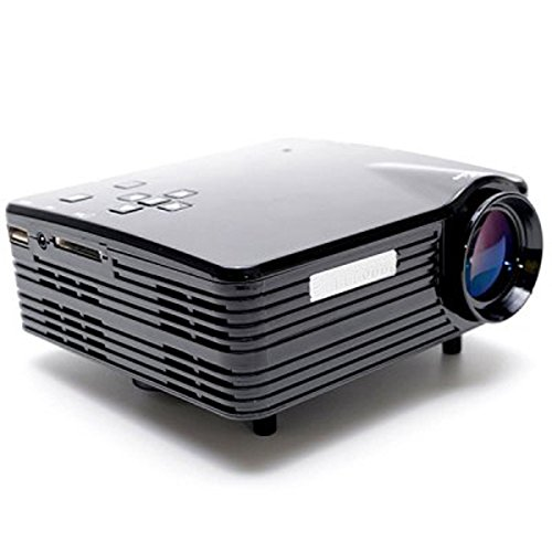 H80 LCD 80 Lumens Home LED Projector 20~120 Inch Display Size Support HDMI/VGA/USB/AV/SD (US Plug) by Unknown