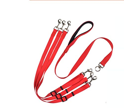 Dog Lead The New Durable Running Weaving Rope Dog Chain Nylon Dog Leash Rope Chest Back Pet Traction Rope, At The Same Time Pull Three Dogs, Adjustable Nylon Pet Rope Chain Training Walking Collar Lea
