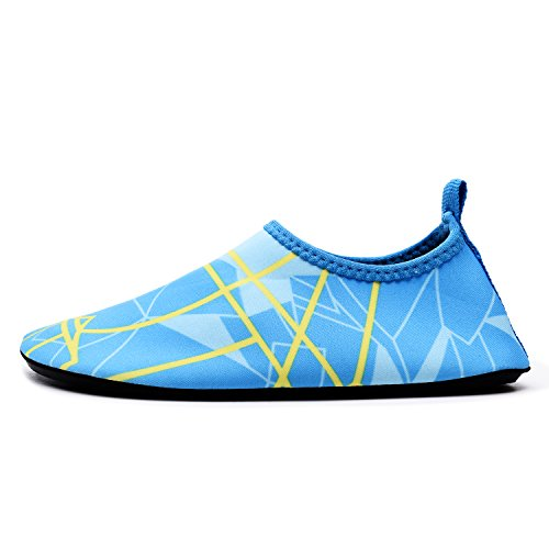 lewhosy Kids Boys and Girls Swim Water Shoes Quick Drying Barefoot Aqua Socks Shoes for Beach Pool Surfing Yoga(26/Light Blue) by lewhosy (Image #2)
