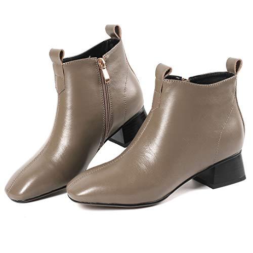 MAYPIE MAYPIE MAYPIE Tacco Stivali Marrone Blocco Toache Leather Donna nbsp; a Cerniera rgCKryS