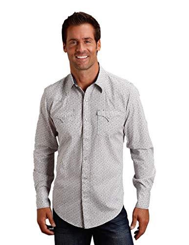 Stetson Men's Collection L/S Shirt-Original Rugged 0425-0517, Grey - Medium