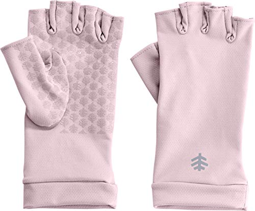 Coolibar UPF 50+ Unisex Fingerless Sun Gloves - Sun Protective (X-Small- Dusty Mauve)