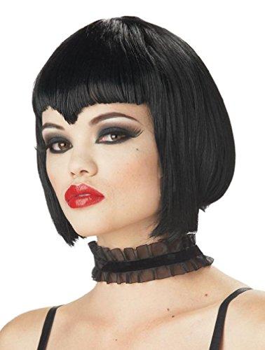 Fancy Va Va Vamp Vampire Adult Costume Wig - Back (Va Va Vamp Wig)