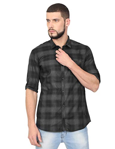 VERSATYL Men's Casual Check Shirts