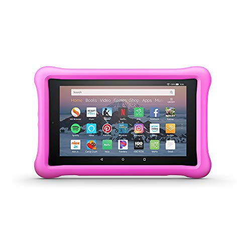 Amazon Kid-Proof Case for Amazon Fire HD 8 Tablet (Compatible with 7th and 8th Generation Tablets, 2017-2018 Releases), Pink (Amazon Kindle Fire Hd 8 9)