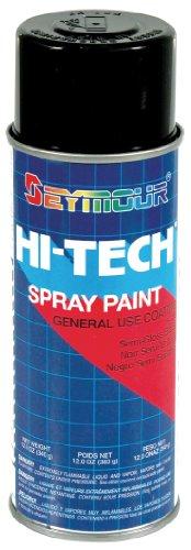 Seymour 16-139 Hi-Tech Enamels Spray Paint, Semi-Gloss Black