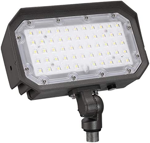 LEONLITE LED Outdoor Flood Light with Knuckle, 50W 400W Eqv. 5000K Daylight Wall Washing Light, UL Listed, IP65 Waterproof, 5-Year Warranty for Yard, Garden, Building Facades