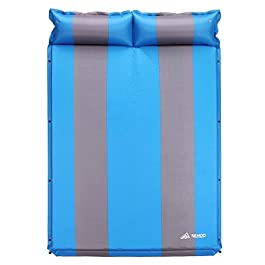 SEMOO Self-Inflating Camping Sleeping Pads Lightweight Comfort 1.2 Inch Thick Water Repellent Coating Mats Great for Indoor Outdoor Backpacking Hiking