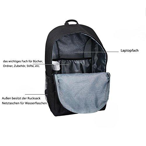 Canvas Leuchtender Schulrucksack Rucksack, Unisex Jugendliche Cartoon Schulranzen/Schultaschen, Studenten Leuchtende Nacht Daypacks, Passt für Outdoor Freizeit Sports( 48CM×29CM×17CM)