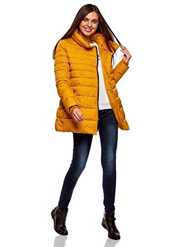 Cremallera Mujer con Chaqueta Botones Acolchada oodji Amarillo Decorativos Ultra y 5200n xZTq5X