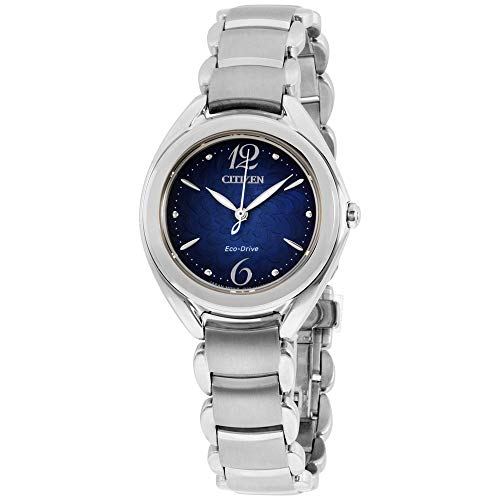 - Citizen Eco-Drive Ladies Dress Blue Dial Stainless Steel Watch FE2070-84N