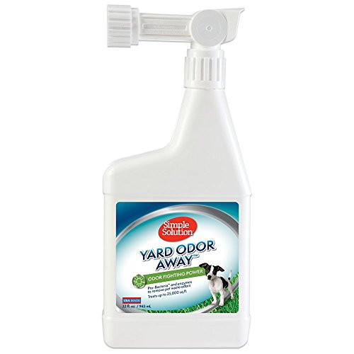 Simple Solution Yard Odor Away | Outdoor Odor Eliminator | Pet Odor Remover for Lawn and Yard | Hose Spray Attachment Ideal for Multi-Surface Outdoor Use | 32 Ounces (Yard Odor Killer Stool Urine Deodorizer Review)