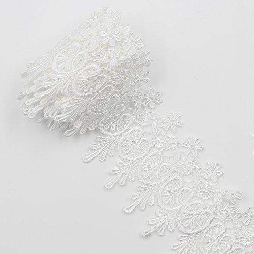 Venise Lace Bow - Floral Venise Tassel Lace Applique Flower Embroidery Applique Sewing Craft 2 Yards