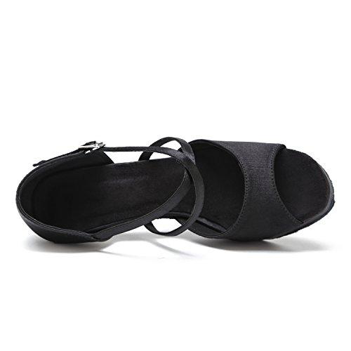 Minitoo - salón mujer Black-8cm Heel