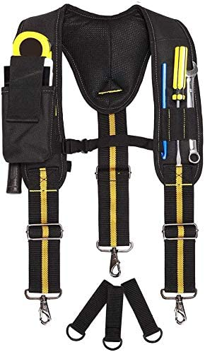 Tirantes de cintur/ón de herramientas cinturones de herramientas de electricista equipo de suspensi/ón bolsa de electricista multibolsillos con soporte lumbar para carpintero electricista