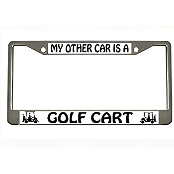 Amazon.com: Rather Be Golf Golf metal License Plate Frame ...
