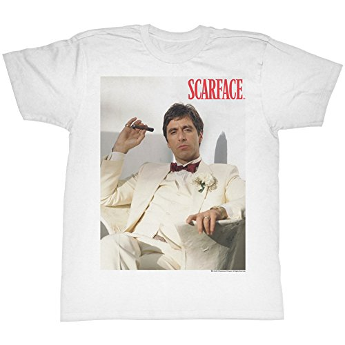 (2Bhip Scarface 1980's Gangster Crime Movie Tony Montana Poster Adult T-Shirt)