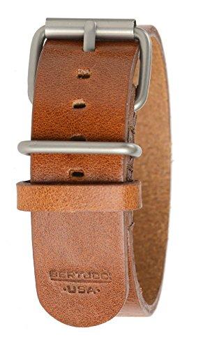Bertucci B-188H D-Type Mens 22mm Heritage Scotch Veg. - Bertucci Watch Bands Leather