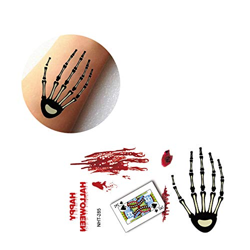 DICPOLIA Decoration Halloween Temporary Tattoo, Bleeding Wound Scar Stickers Paper Waterproof for Fool's Day Fun Cosplay Costumes Party (I)