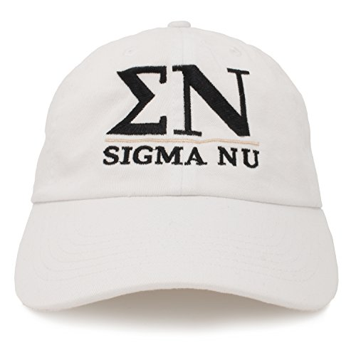 (Ann Arbor T-shirt Co. Sigma Nu | Classic SN Fraternity Collegiate Line Baseball Rush Frat Hat Cap)