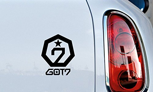 GOT7 Star Logo Text Car Vinyl Sticker Decal Bumper Sticker for Auto Cars Trucks Windshield Custom Walls Windows Ipad Macbook Laptop Home and More (BLACK)