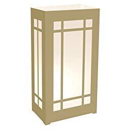 LumaBase 31512 12 Count Plastic Lanterns, Gold