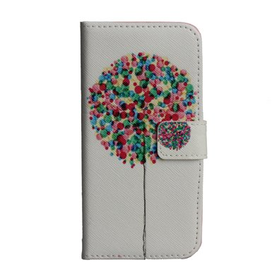 Monkey Cases® iPhone 6 4,7 Zoll - Flip Case - BUNTER BAUM - Premium - original - neu - Tasche - TREE