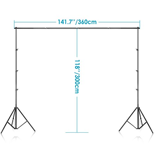 Neewer Photo Video Studio Adjustable Background Stand Backdrop Support System 10x12 feet/3x3.6 Meters and Carrying Bag for Photography (Backdrop Not Included) by Neewer (Image #2)