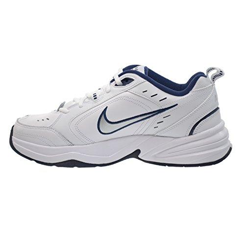 Nike Air Monarch IV Mens' Training Shoes White/Metallic Silver-Mid Navy  415445