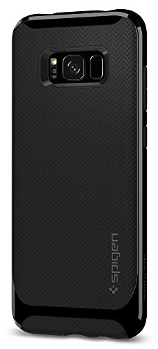 Price comparison product image Spigen Neo Hybrid Galaxy S8 Plus Case Herringbone with Flexible Inner Protection and Reinforced Hard Bumper Frame for Galaxy S8 Plus (2017) - Shiny Black