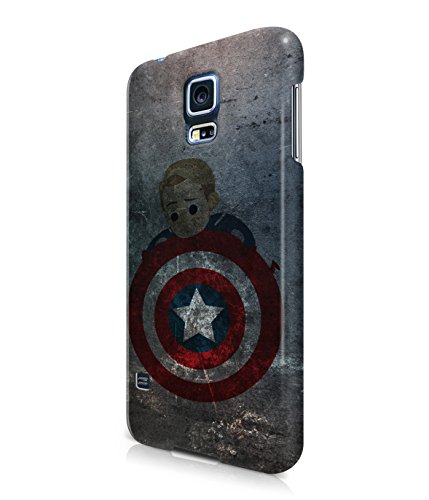 Captain America Winter Solider Grunge Plastic Snap-On Case Cover Shell For Samsung Galaxy S5