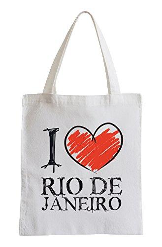 Adoro Rio de Janeiro Fun sacchetto di iuta