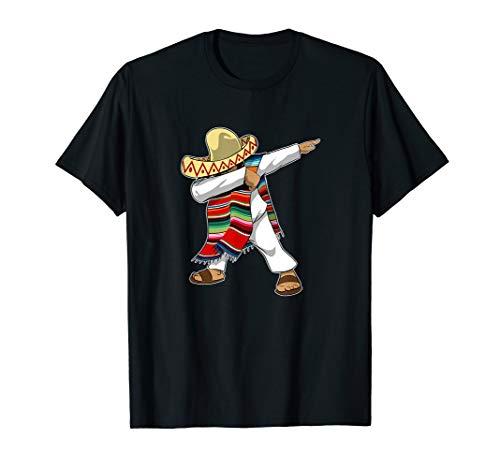 Mexican Poncho Dabbing T-Shirt Cinco de Mayo]()