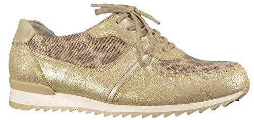 Piel Mujer Para 302 Dorado 370004 Zapatos Amarillo De Cordones Waldläufer 490 nYgwqnZ8