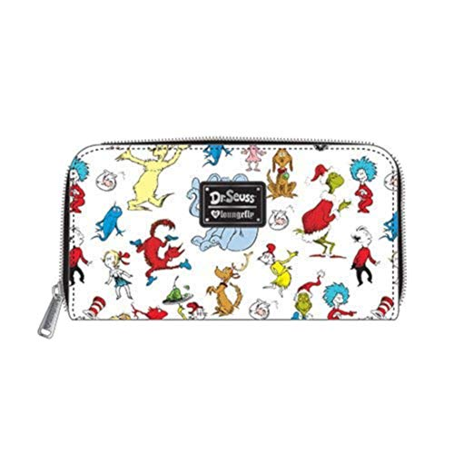 Loungefly Dr Suess Early Book Characters Horton Cat in the Hat Hop on Pop Wallet ()