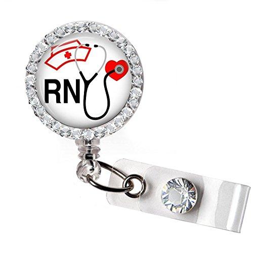 RN Nurse Badge Holder Reel; Nursing Retractable Badge Reel
