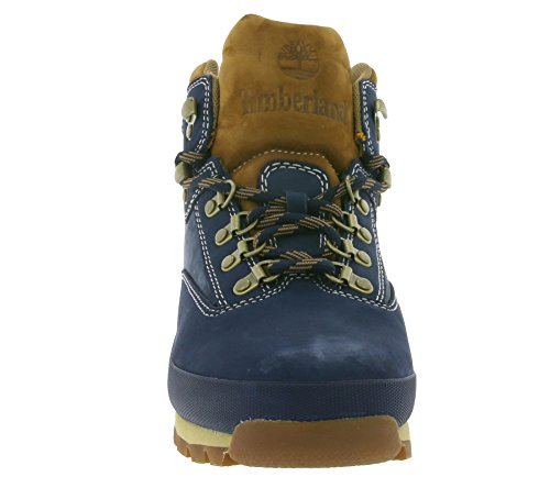 Timberland Euro Hiker Leather Mens Bottes d'hiver Bleu A112M