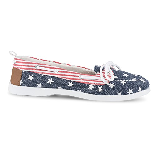 Shoe Bonnie Casual Stars Fashion Twisted Stripes Women's and Boat 5EqYX