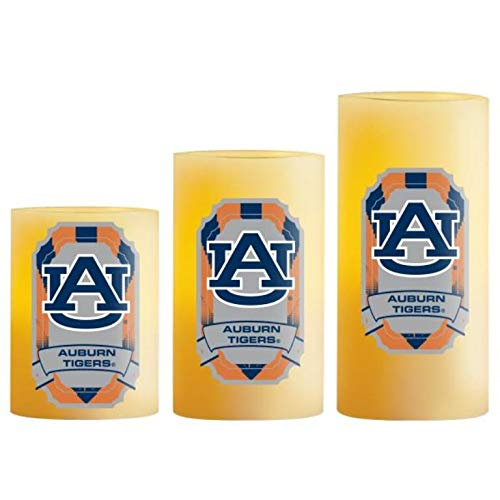 NCAA Auburn Tigers LED Light Candle Gift Set (3 piece)