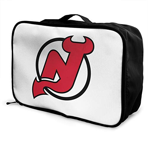 New Jersey Logo Lightweight Large Capacity Portable Luggage Bag Fashion Travel Duffel Bag