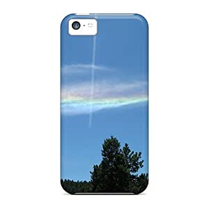 [mxO7200gXYM] - New Cloud Rainbow Protective Iphone 5c Classic Hardshell Case