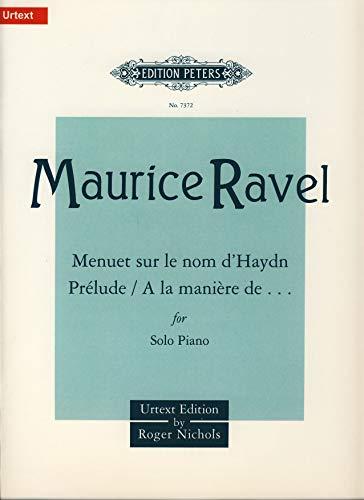 (Partition classique EDITION PETERS RAVEL MAURICE - ALBUM OF SHORTER PIECES - PIANO Piano)