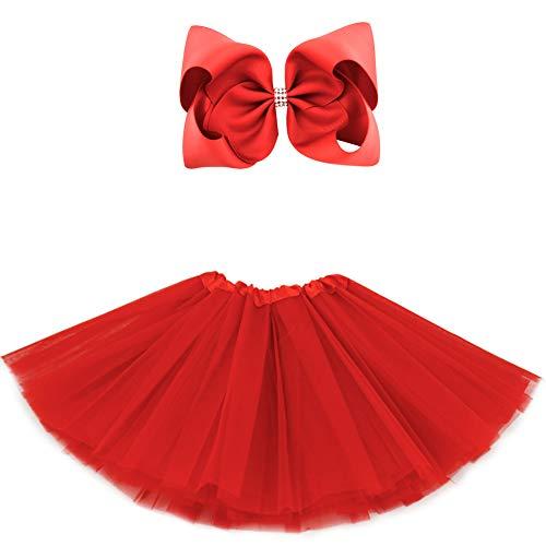 Red Tutu Child - BGFKS 5 Layered Tulle Tutu Skirt