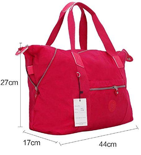 Large amp; Nylon Work Holdall Girl Fabric Blue Tote Office Style Pink All Carry Zipped Bag Oilcloth Shopper Gossip Style Holdall w45qq