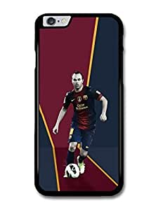 Andres Iniesta Red Blue Football Player case for iPhone 6 Plus