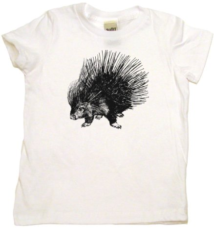 Witte T-shirt (Porcupine Cute Toddler Clothes Cotton Toddler T-shirt, 6T, White)