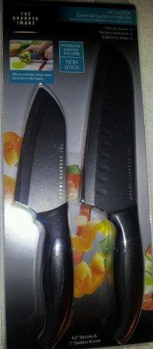 Sharper Image Knife Set - The Sharper Image Essential Santoku Knife Set