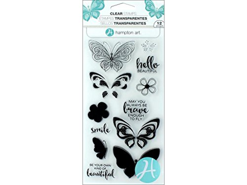 (Hampton Art Clear Stamps Layer Butterfly)
