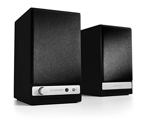 Audioengine HD3 Wireless Compact Speakers. Stream Pandora, Spotify, Tidal or your favorite app with aptX HD in High Resolution - Black